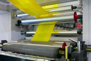 Flexographic printing producing labels