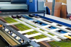 Professional Offset Printer in action
