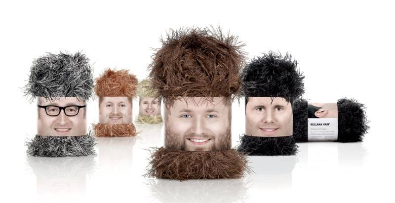 Creative Yarn Label - beared and hairy label