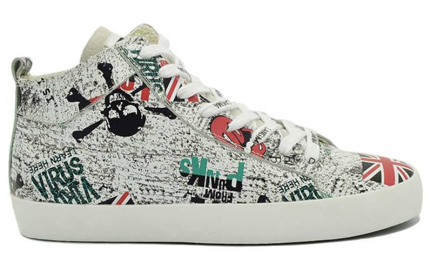 cangma printed leather sneaker