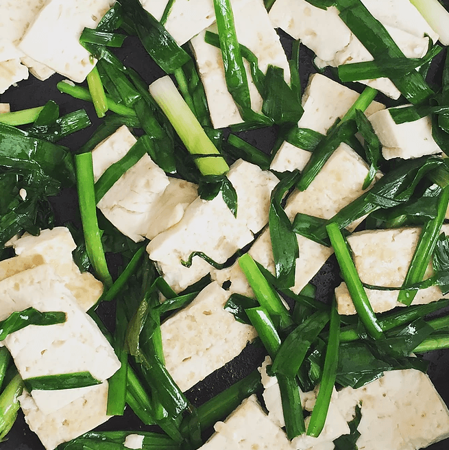 Kaijie Chen chives and tofu inspiration