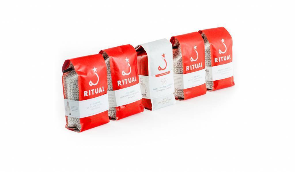 coffee packaging design by good stuff for ritual coffee brand