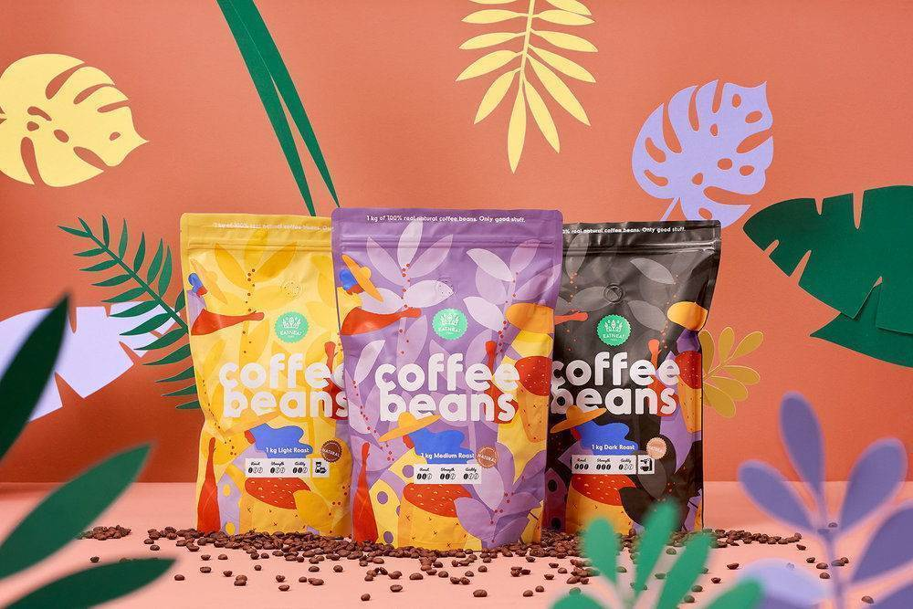 coffee packaging design by hmmm for coffee beans
