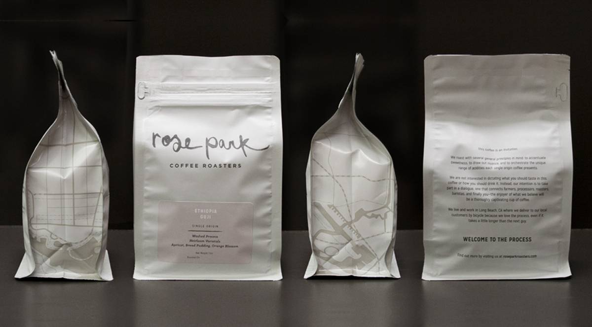 coffee packaging design by rose park for ruthie coffee