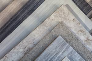 Tile samples in store
