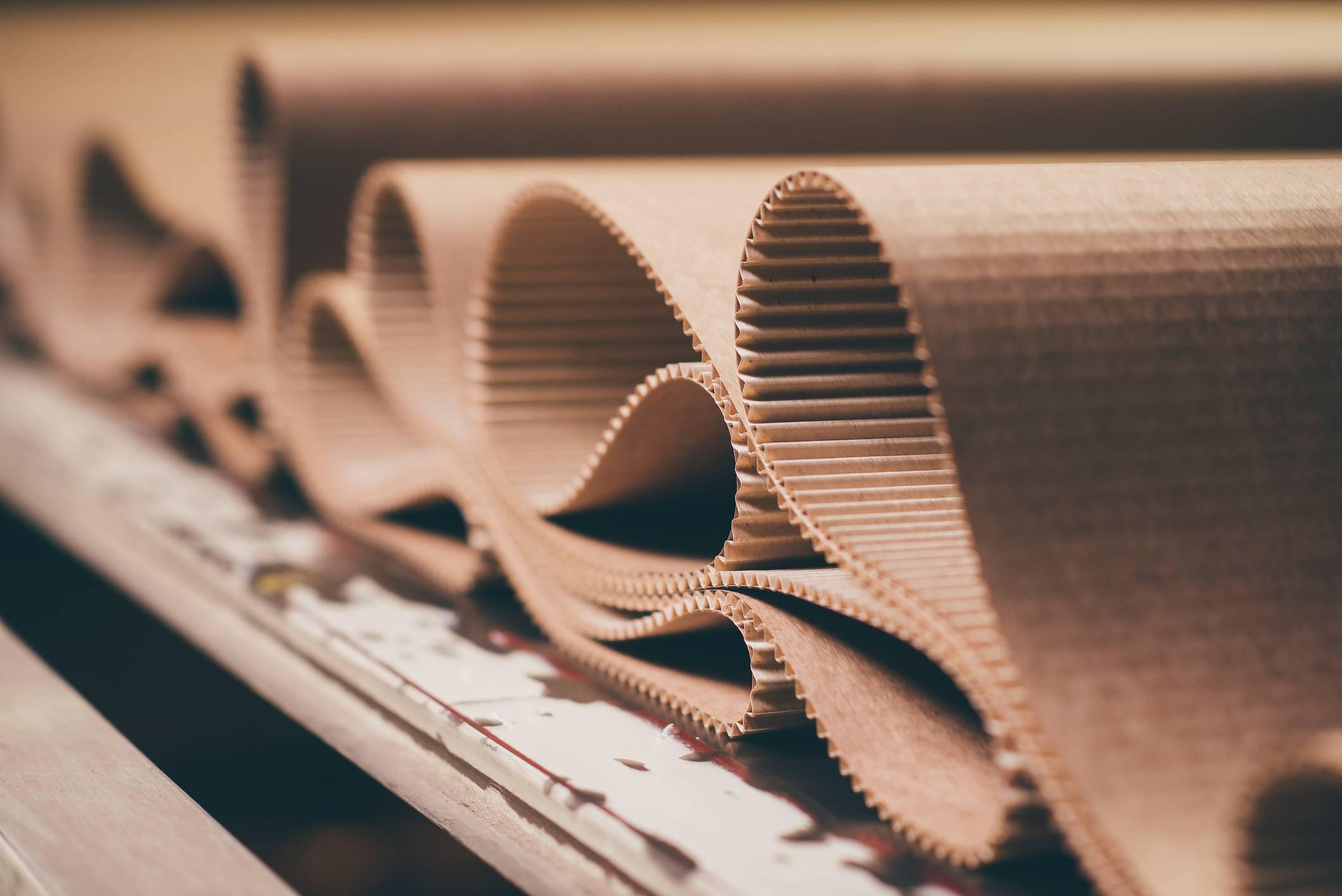 Folded, corrugated cardboard