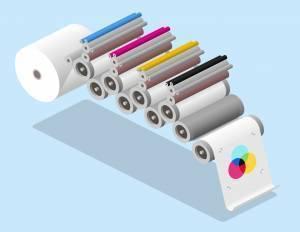 Illustration of offset printing system