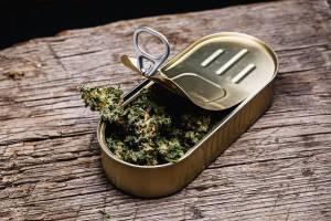 legal marijuana in a pop-top tin can
