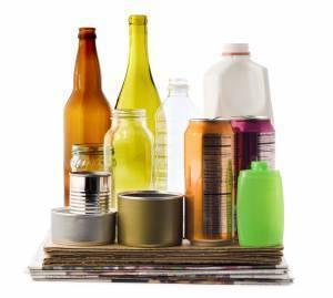 metal cans glas bottles plastic bottles boxes paper flexible packaging