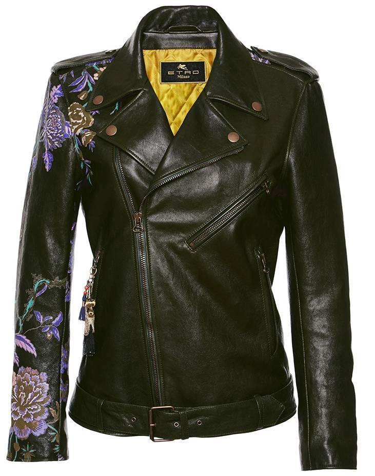 moda operandi printed leather jacket