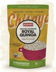 package design for altereco quinoa compostable pouch