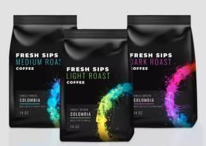 printed flexible coffee packaging