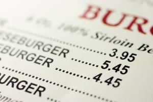 restaurant menu printed on synthetic waterproof paper