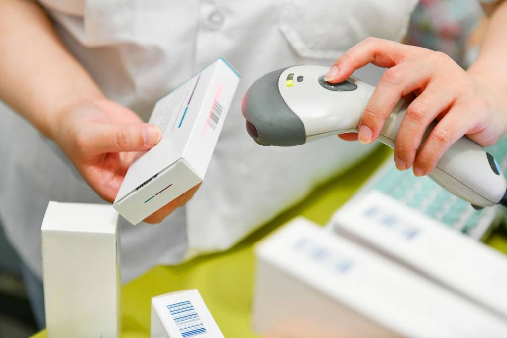 scanning inkjet printed barcode of a pharmaceutical product
