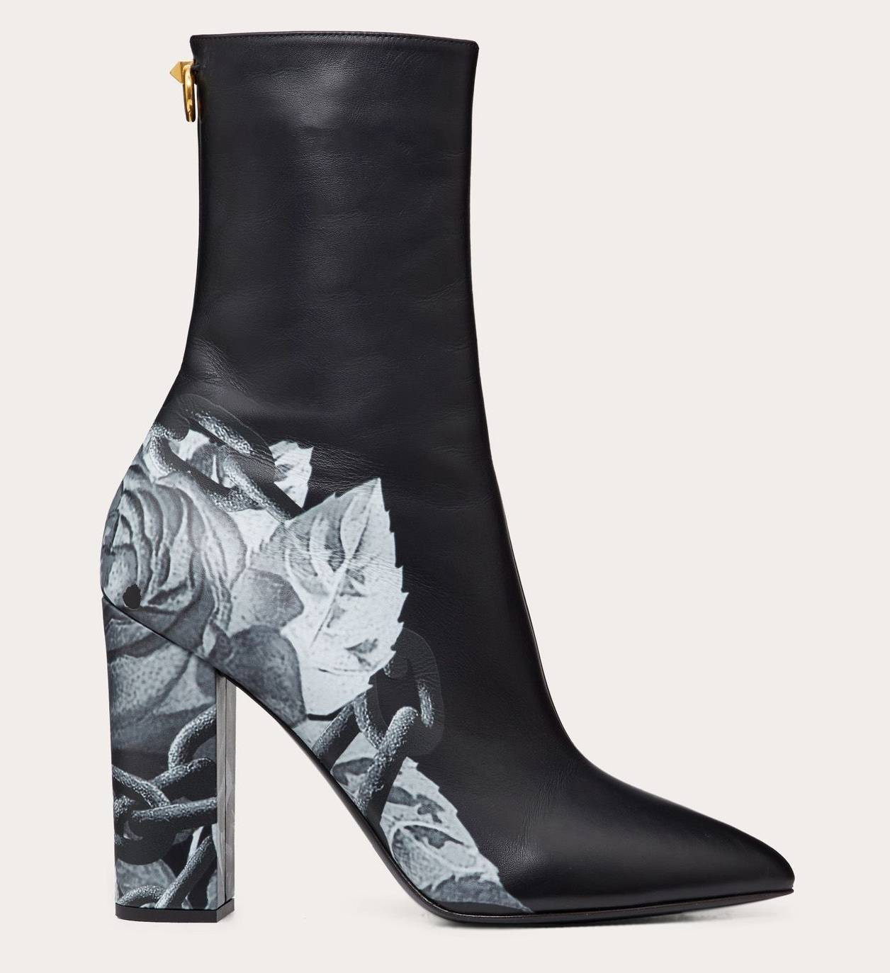 valentino printed leather boot