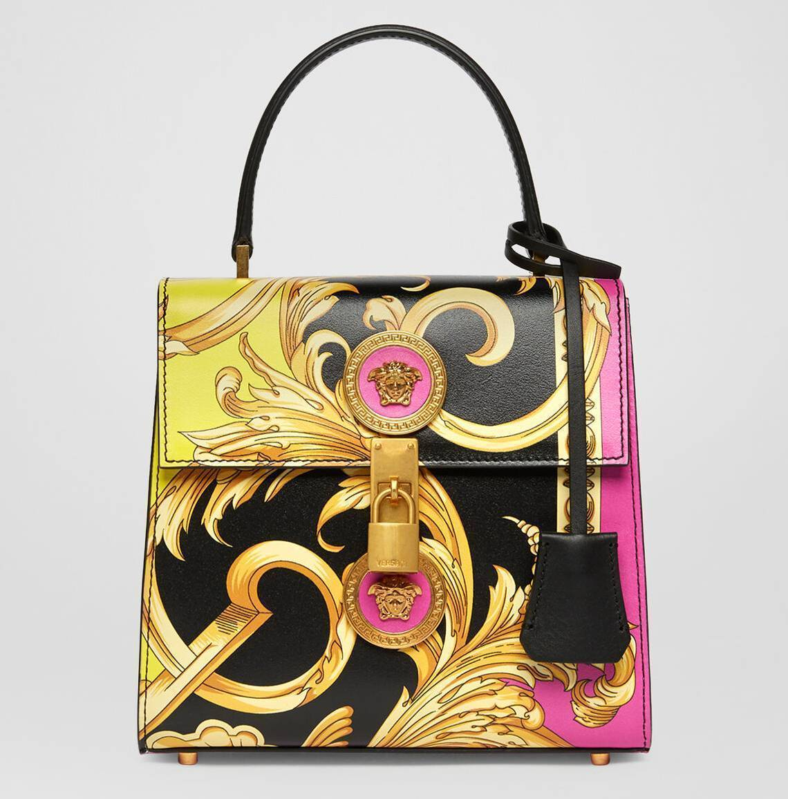 versace printed leather purse
