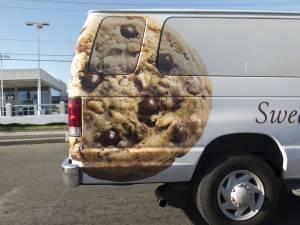 Vinyl graphic van wrap