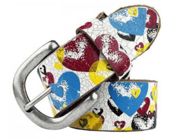 yotta printed leather belt