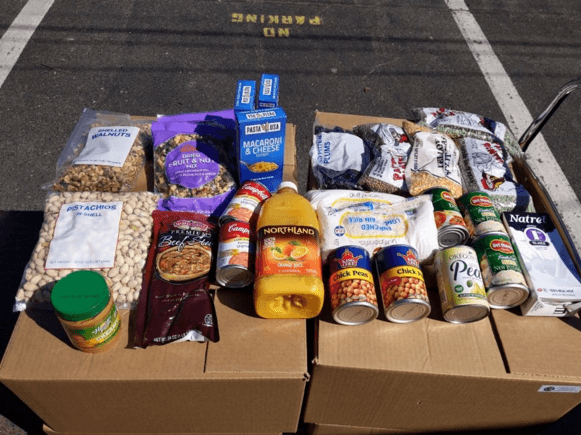 Donated foods